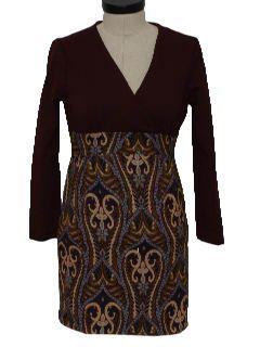 1960's Womens Mod Mini Dress