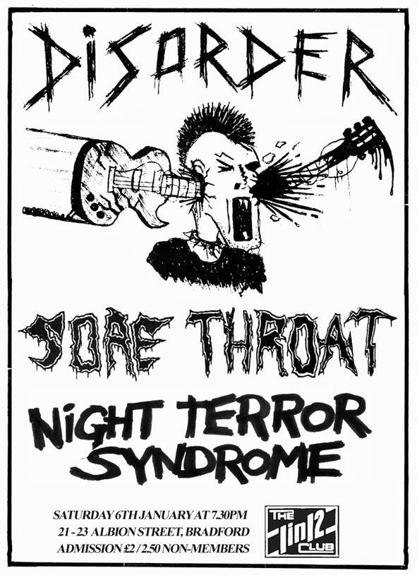 Disorder Sore Throat Punk Poster Crust Punk Punk Songs