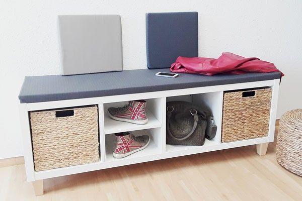 Ikea Kallax als Sitzbank - bequem und stylisch! Einrichtung Ideen