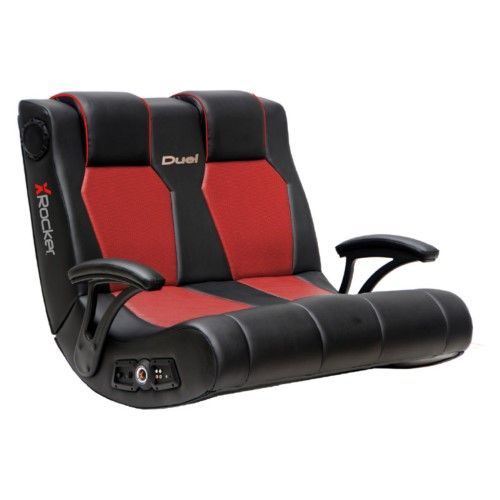 Awe Inspiring X Rocker Dual Commander 2 1 Wired Game Chair Black Gaming Gamerscity Chair Design For Home Gamerscityorg