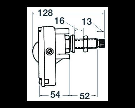 TMC Motor Limpiaparabrisas Eje 50 mm