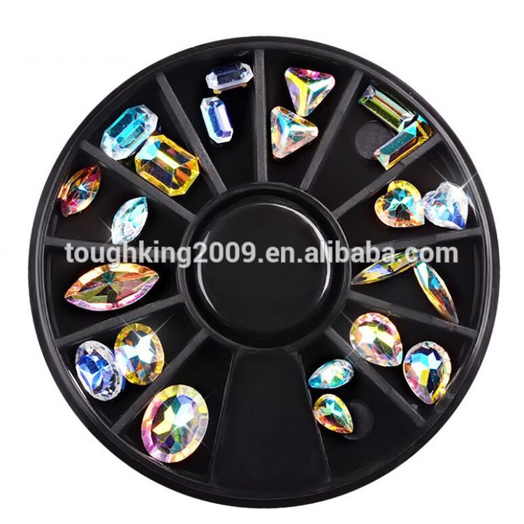 Diy Nail Ideas Doc Martens Nail Art And More Of Our: New Best Selling Products AB Color Mixed Designs Wheel Box