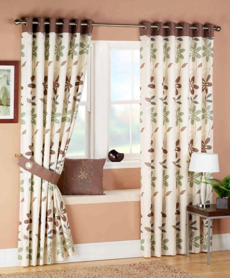 Living Room Brown Living Room Curtain Ideas With Ceramic Floor Enchanting Living Room Curtains Design Design Decoration