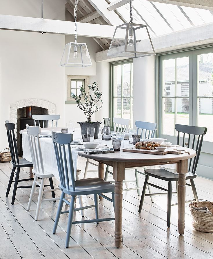 Painted Dining Chairs Mismatched Dining Chairs Gray Dining