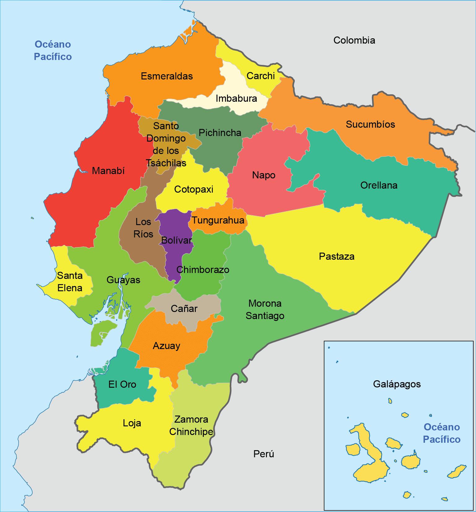 Resultado De Imagen Para Mapa Político Del Ecuador Ecuador Map Map Natural Phenomena