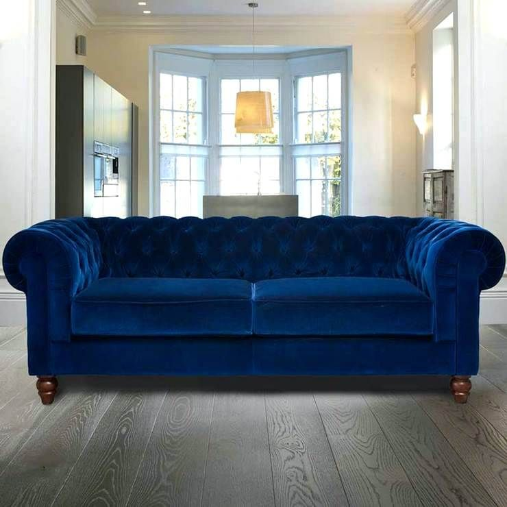 Blue Suede Sofa Velvet Sofa Bed Sofa Velvet Sofa