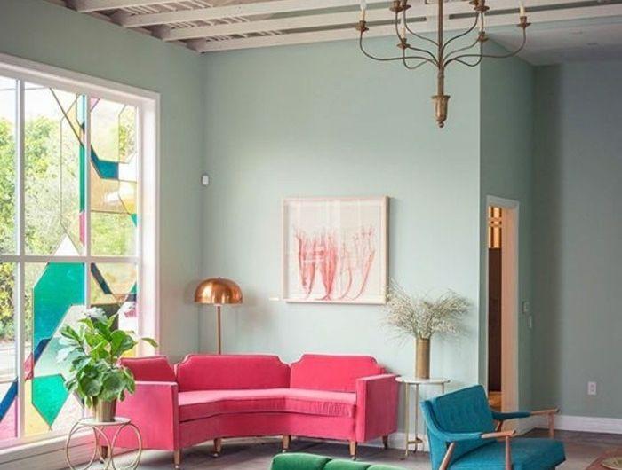 Quelle Couleur Pour Un Salon 80 Idees En Photos Couleur Salon Decoration Interieure Et Architecture Art Deco