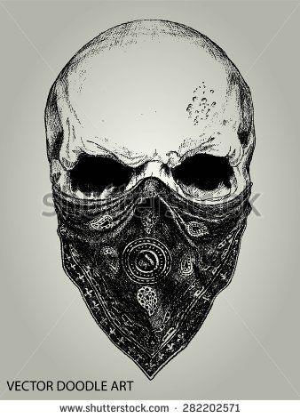 Skull with Bandana Gangster Tattoo Drawings | 17 Best ideas about Bandana Tattoo on Pinterest | Gangster girl ...