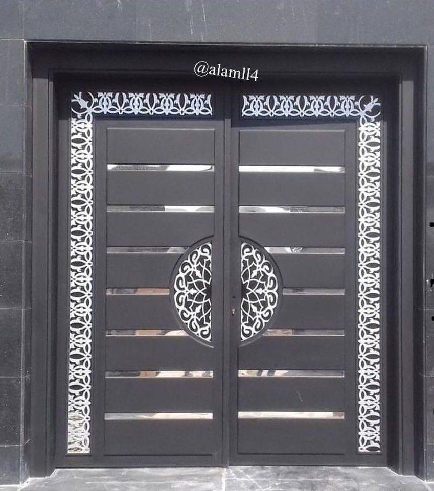بناءا على الطلبات من متابعيني لصور ابواب داخليه وخارجية قص ليزر و خشب جمعت لكم بعض الصور وأن شاء الله ت Main Gate Design Steel Gate Design Door Design Modern