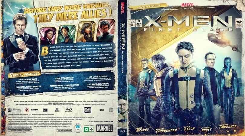 Comic Book Blu Ray Collection X Men First Class Efx Coverart Gallery Movie Covers Blu Ray Collection X Men