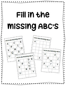 ABC Fill in {ABC order practice} | My TpT Store | Daily five