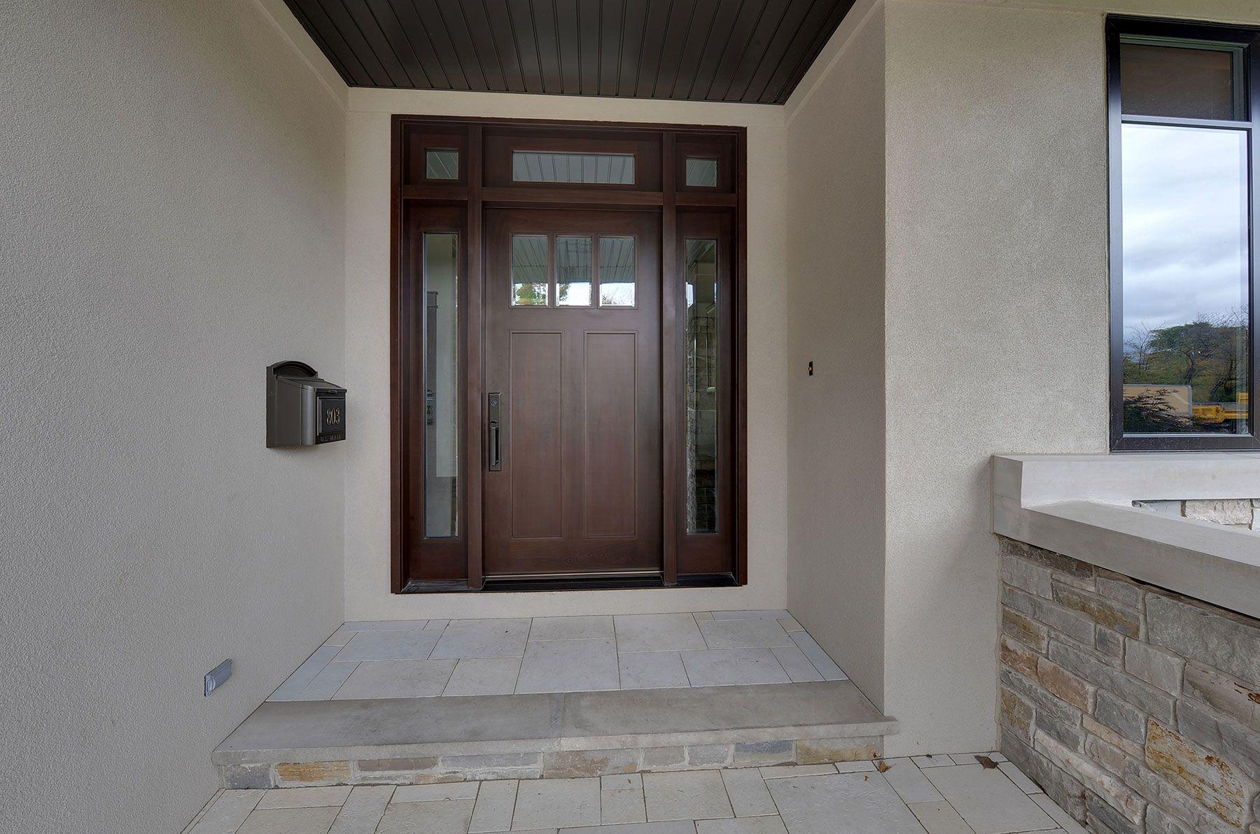 Custom Wood Front Entry Doors | Custom Craftsman Solid Mahogany Wood ...