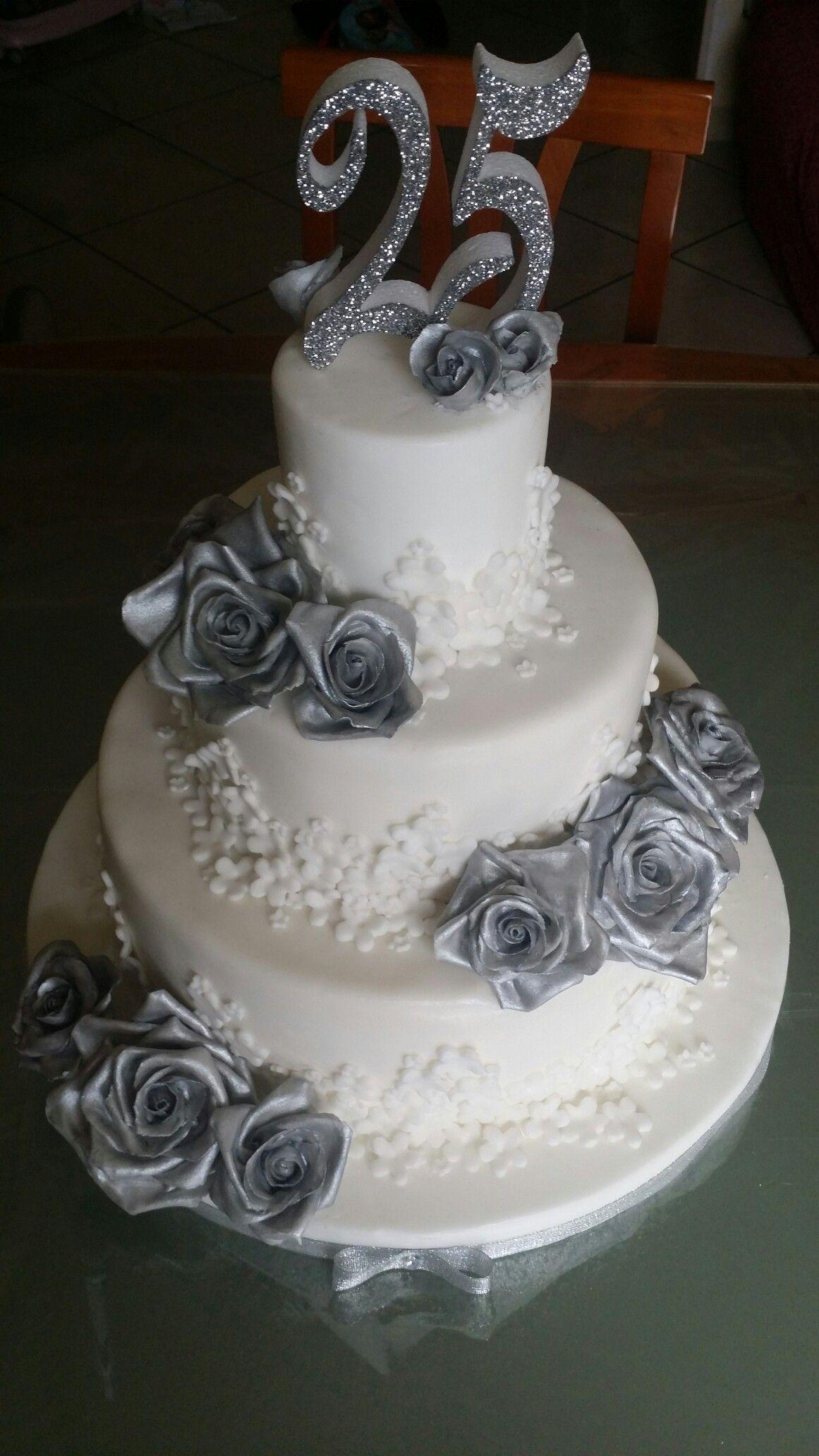25 Anni Di Matrimonio Sweet Anniversary 25 Anniversario Di Matrimonio Torta Di Anniversario Idee Torta