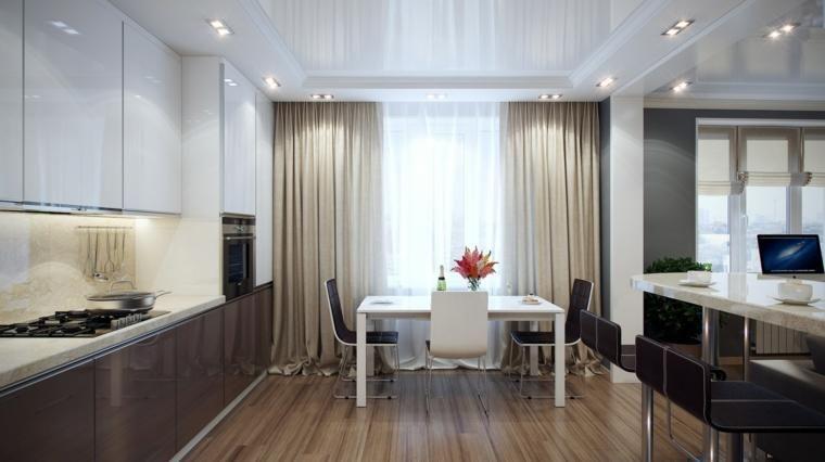 Küchenvorhänge und Rollos bereichern das Design Küche #bereichern - küche dekorieren ideen