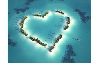 """3D Фотообои  """"Остров любви Мальдивы"""""""