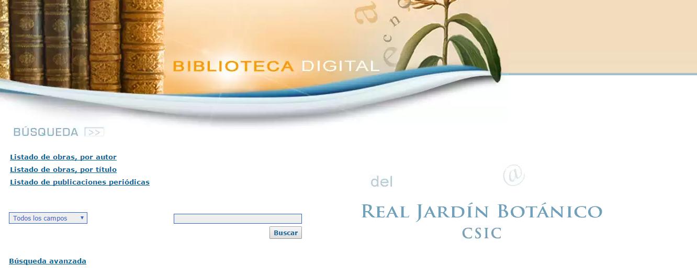 Biblioteca Digital del Real Jardín Botánico