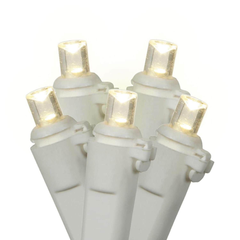 Sienna Set of 60 Warm Clear LED Wide Angle Christmas Lights - White ...