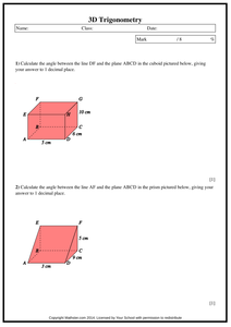 3d Trigonometry Pdf 3d Trig Trigonometry Trigonometry