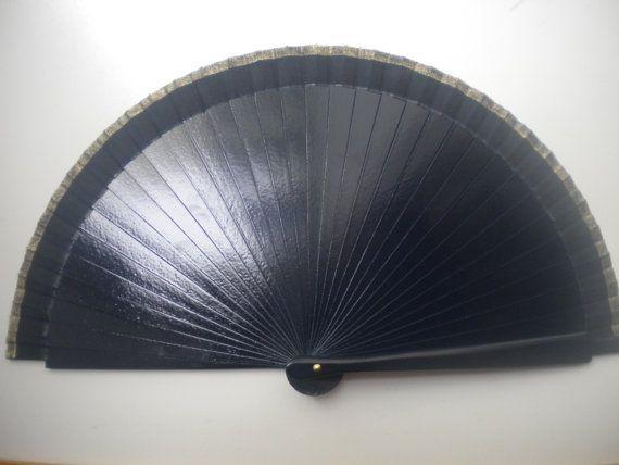 Man Fan Wood Folding Hand Fan 19cm Choose Color by DengraDesigns