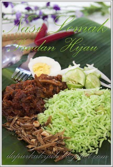 Dari Dapur Kak Yah Nasi Lemak Pandan Hijau Resep Masakan Pedas Resep Masakan Malaysia Makanan Sehat