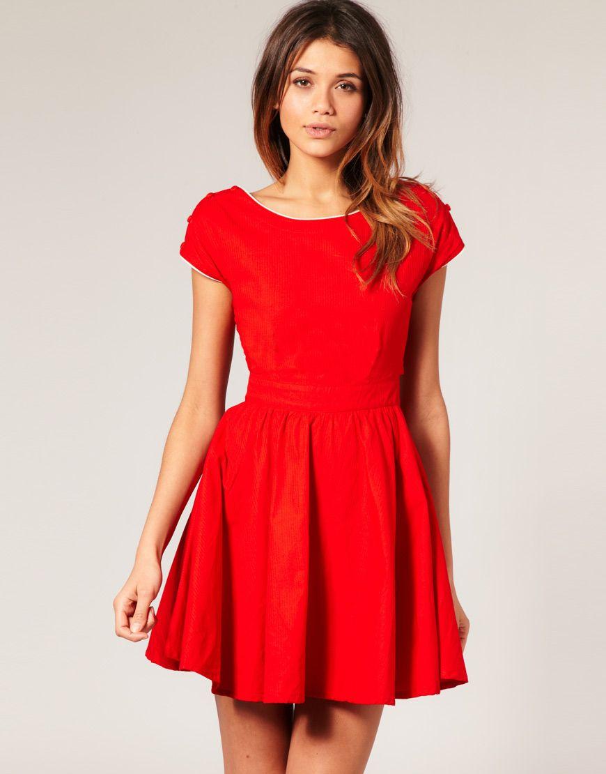 Cute red dress dream closet pinterest cute dresses dresses