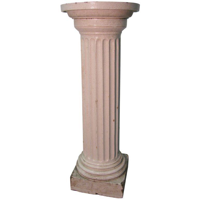 19th Century Fluted Doric Column Birdbath Fern Stand Doric Column Doric Fluted Columns