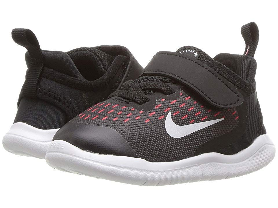 a8446420cd643 Nike Kids Free RN 2018 (Infant Toddler) (Black White Racer Pink Volt) Girls  Shoes. Nike keeps them light on their feet with the Free RN 2018.