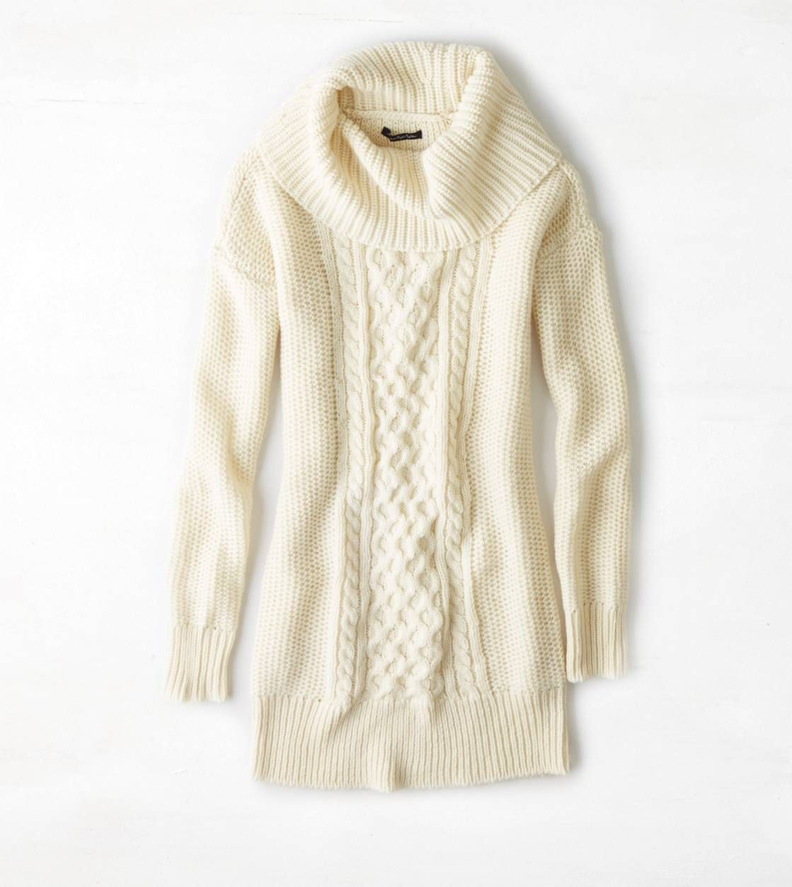 AEO Cowl Neck Sweater Dress. With a pair of leggings or tights the ...