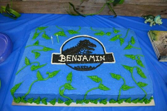 Jurassic World Sheet Cake