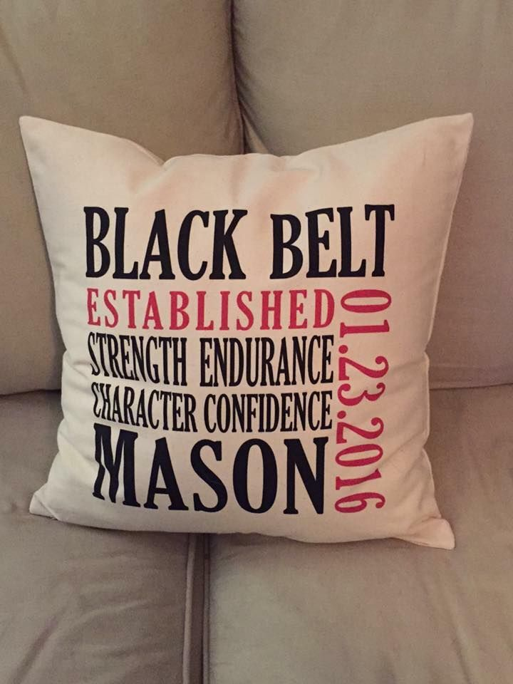 Established Pillow for the Karate Kid :) #canadianbaglady