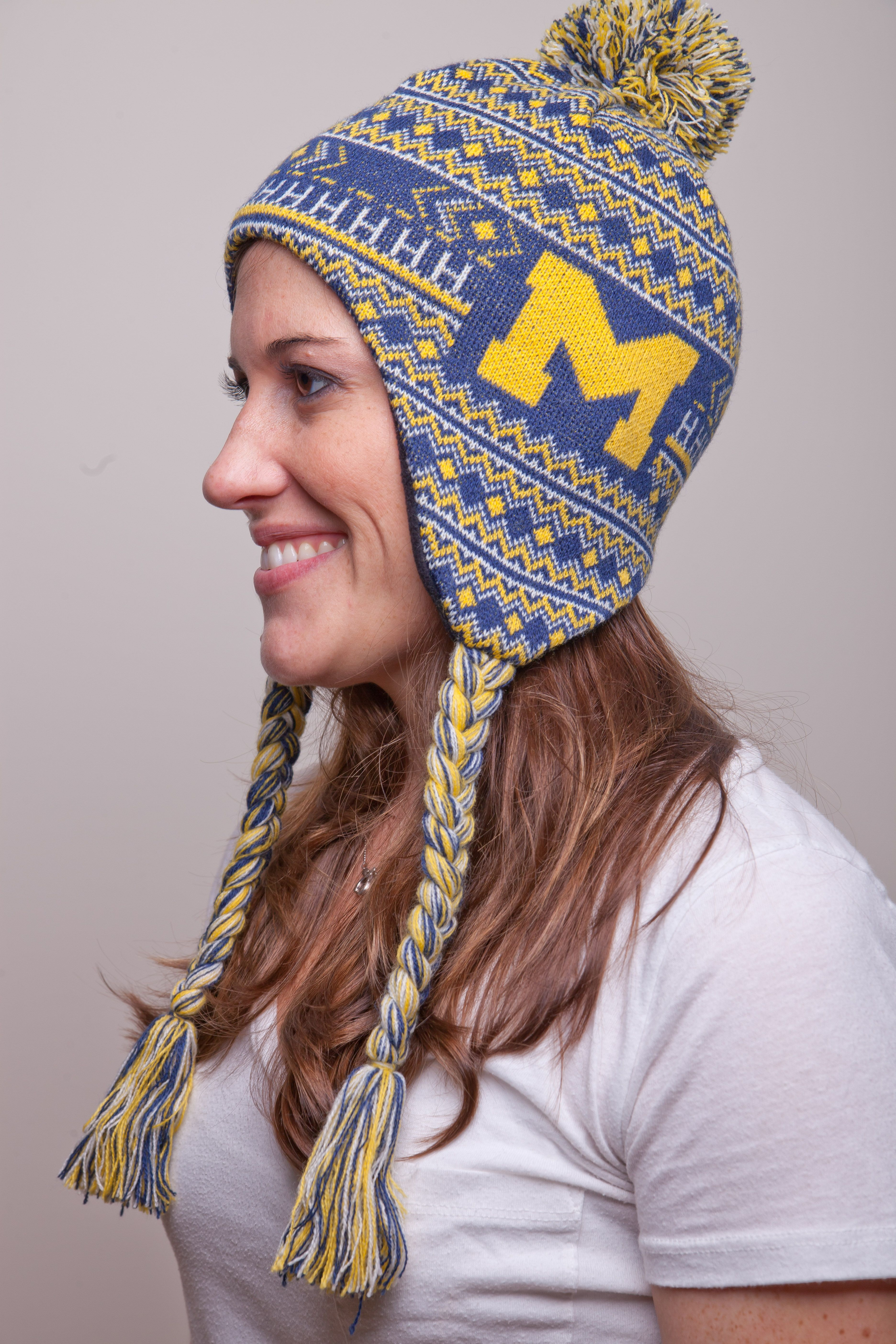 8c3f71fd6eabe Our University of Michigan winter hat is a favorite among Wolverines fans.  Stay warm at fooball games or give as the perfect  goblue holiday gift.   19.99