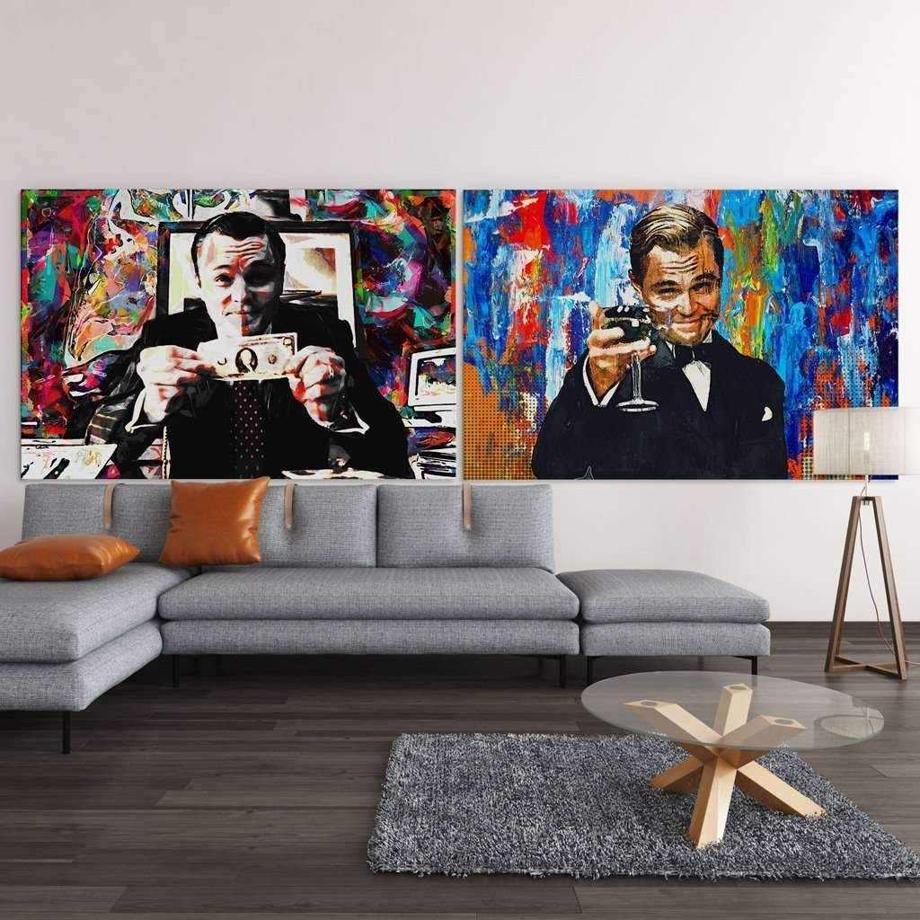 Wolf Of Wall Street Canvas Art In 2020 Wolf Of Wall Street Shop Wall Art Wall Street Art