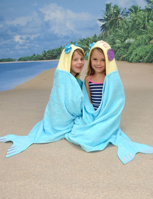 Yikes Twins Mermaid hooded towel | Towels, Mermaid and Etsy