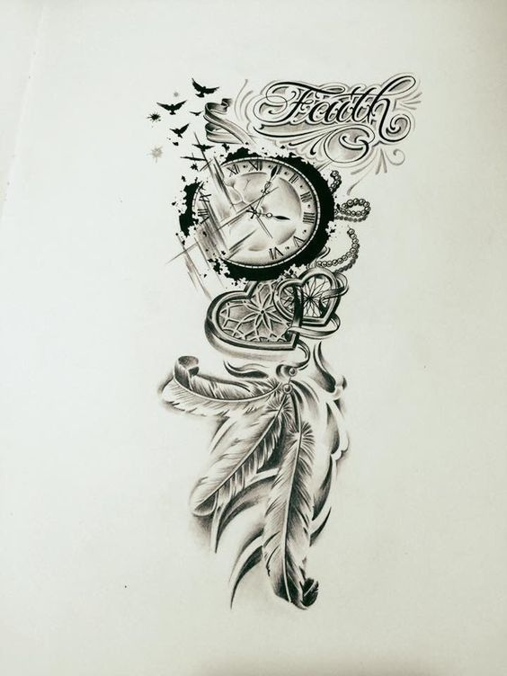 33 Of The Most Designed Clock Tattoos Koees Blog