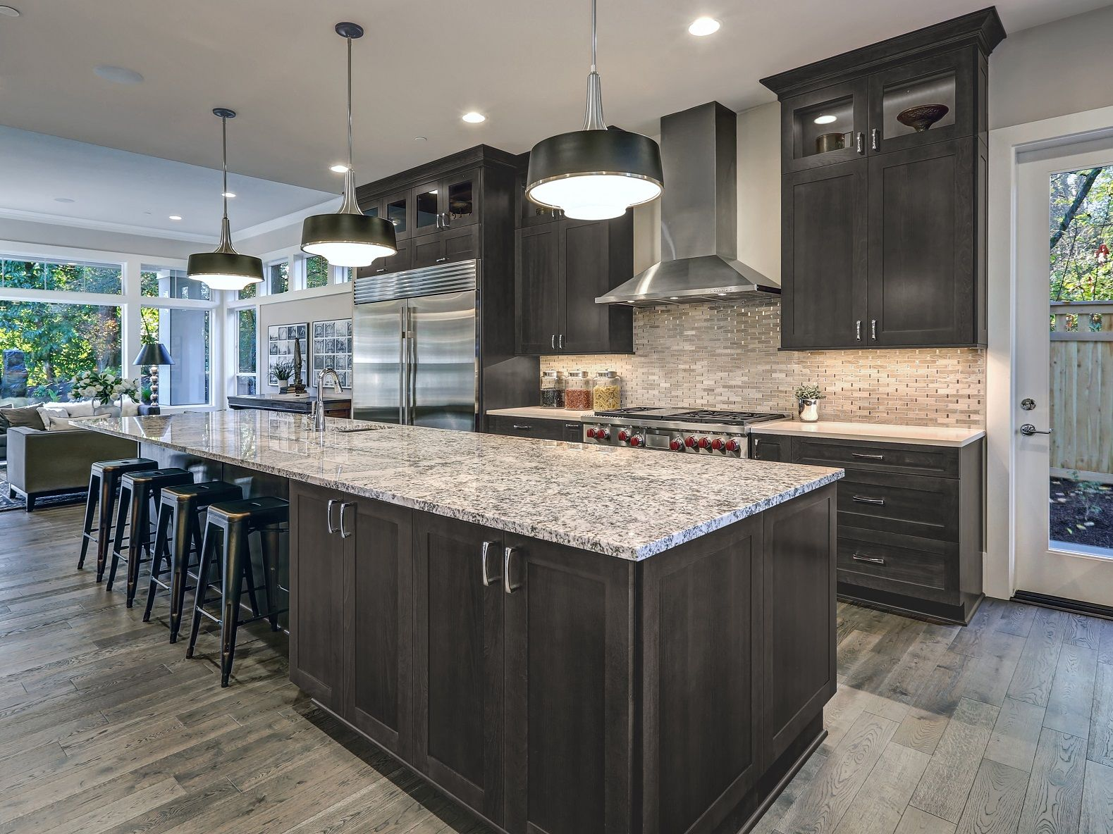 Midtown Dark Grey Shaker Dark Kitchen Cabinets Types Of Kitchen