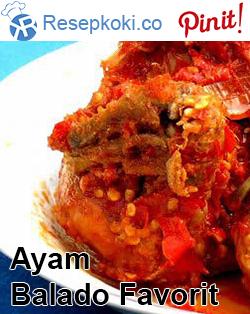 Resep Ayam Balado Favorit Keluarga Resep Ayam Resep Makanan Minuman