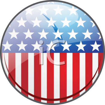 Clipart Image Of A Stars And Stripes Button Royalty Free Clipart Free Clipart Images Clip Art