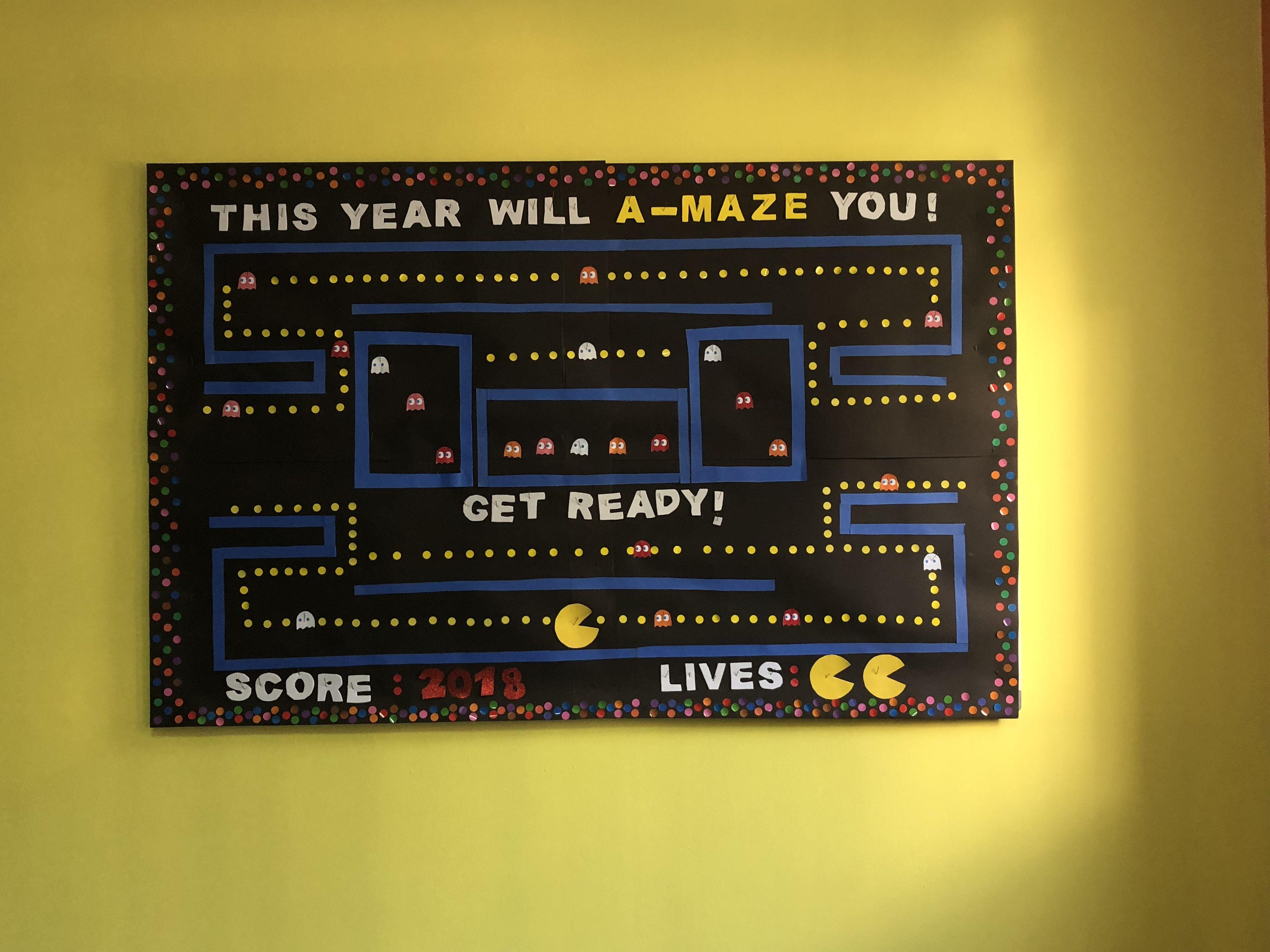 Board Backtoschool School Pacman Education