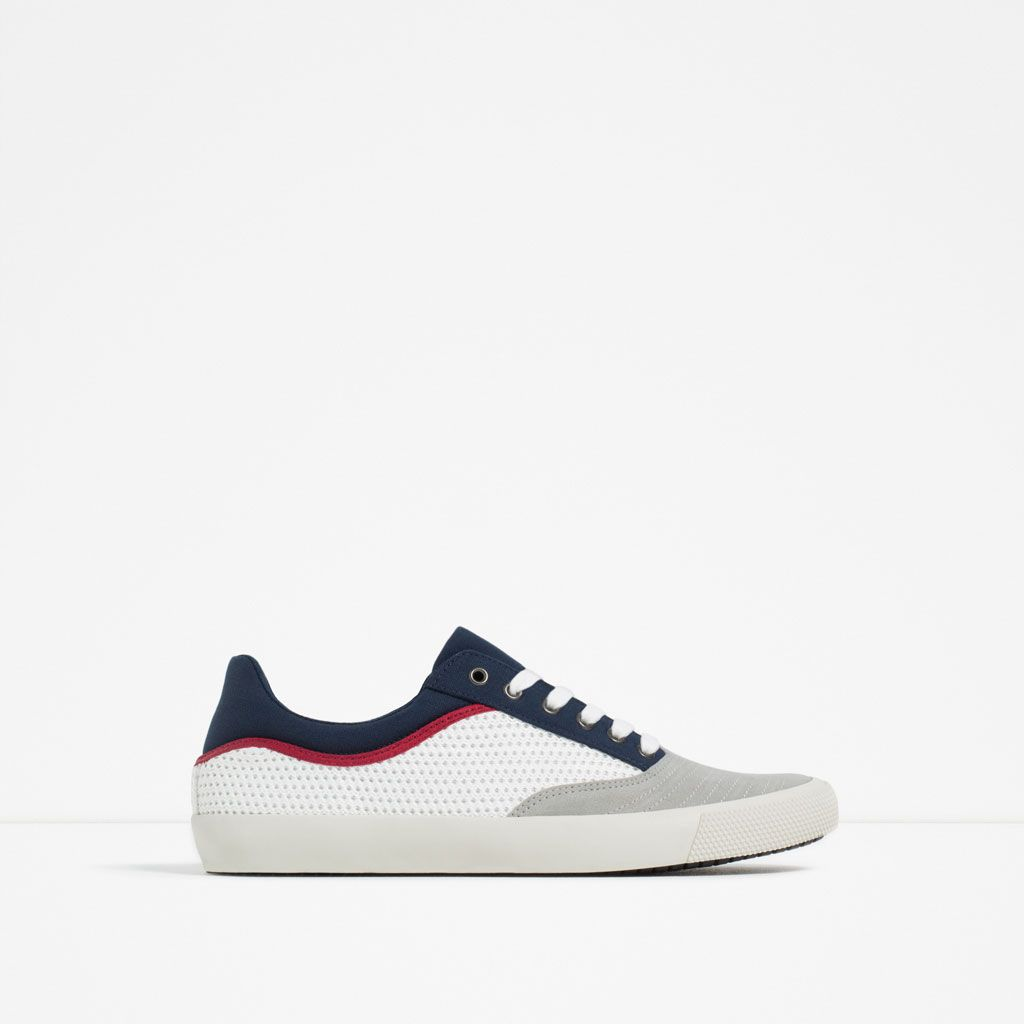 Mesh Sneakers View All From Size 39 Shoes Man Zara Turkey Burberry Shoes Sneakers Shoes Mens Kid Shoes