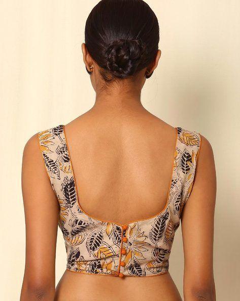 4a05426423e9d Buy Beige Indie Picks Kalamkari Print Cotton Sleeveless Blouse