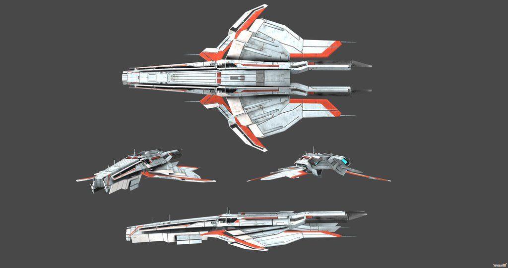 Turian Cruiser Concept View By Nach77 D20 Future Future