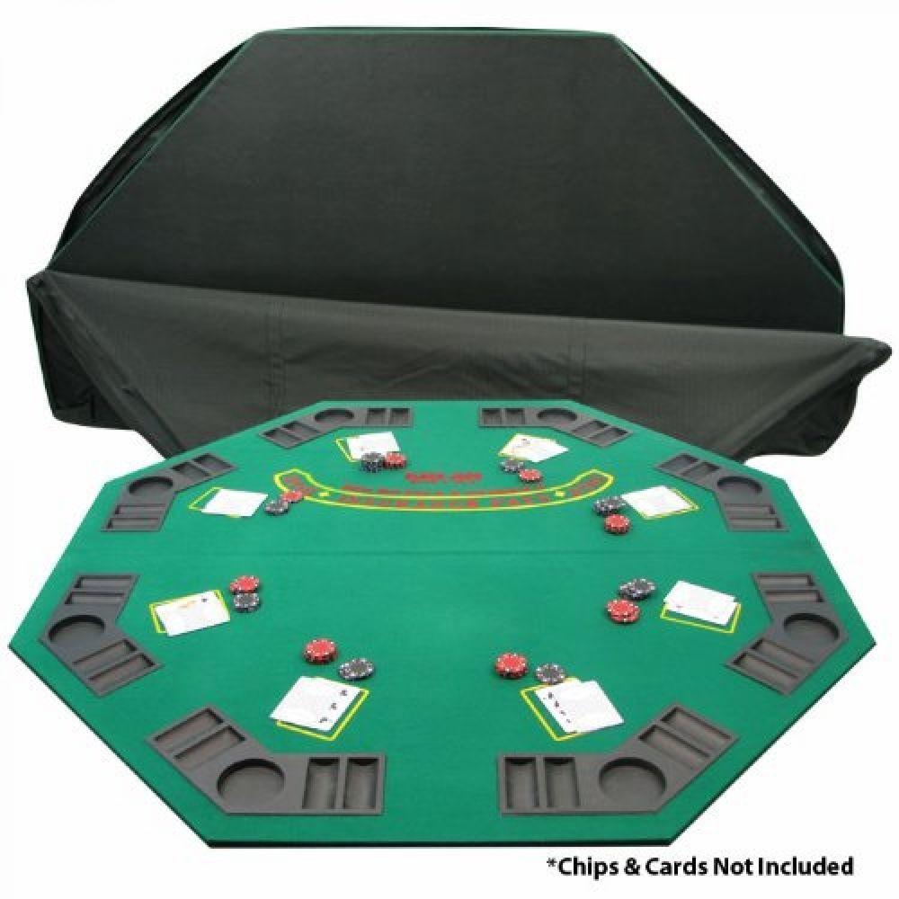 Poker Folding Table Top Deluxe Solid Wood Poker Blackjack