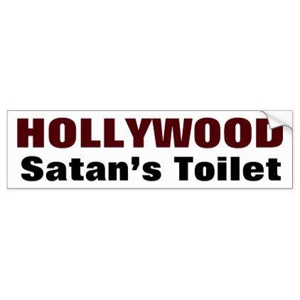 Satans toilet bumper sticker diy individual customized design unique ideas