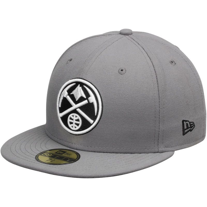 buy popular e0ee7 64486 Denver Nuggets New Era 59FIFTY Fitted Hat - Gray/Black ...