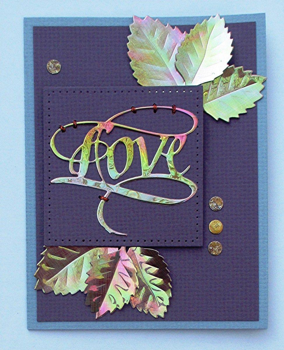 Shimmer Sheetz Love & Leaves Card