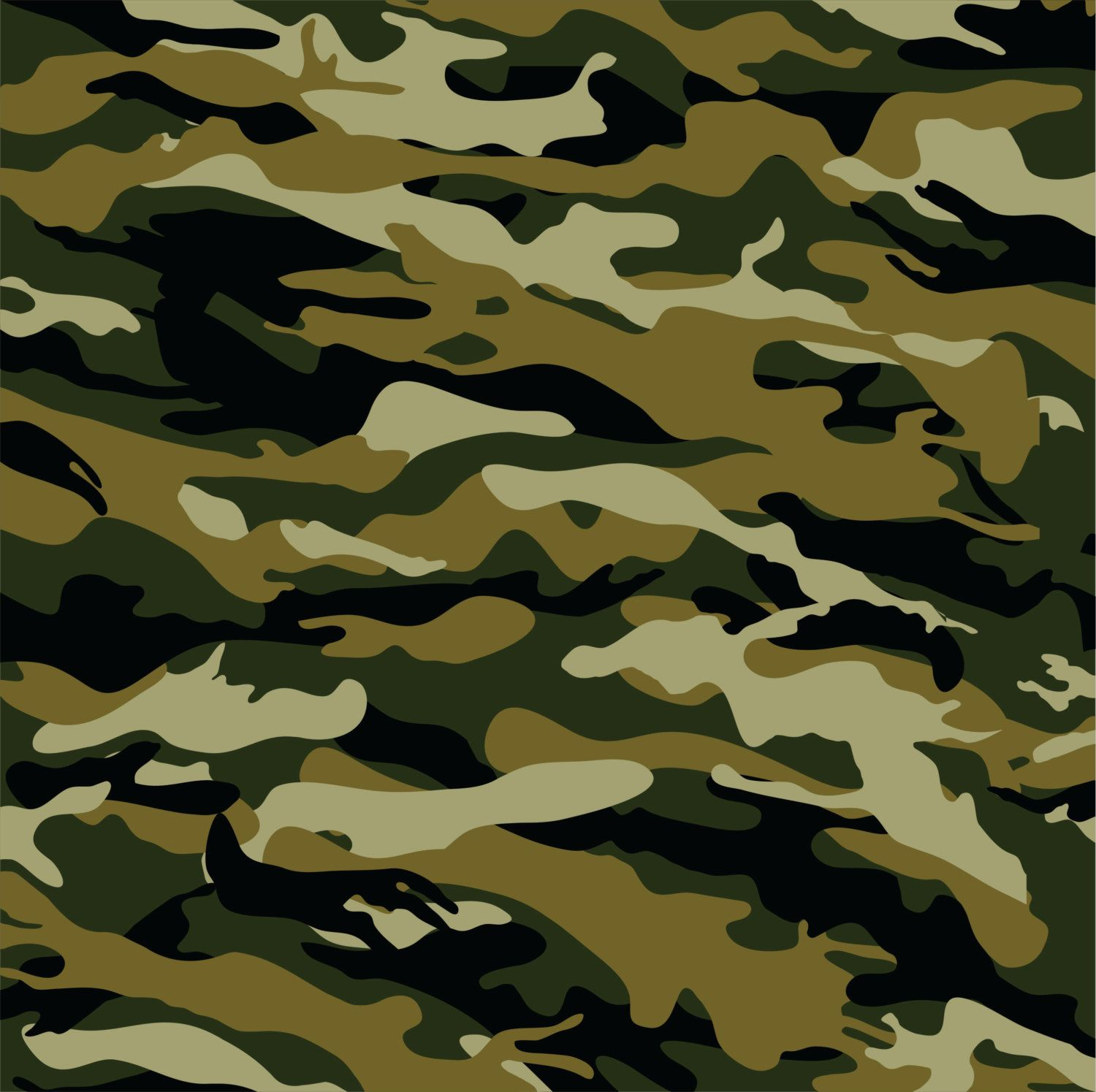 Army Camo Pattern Cool Decorating