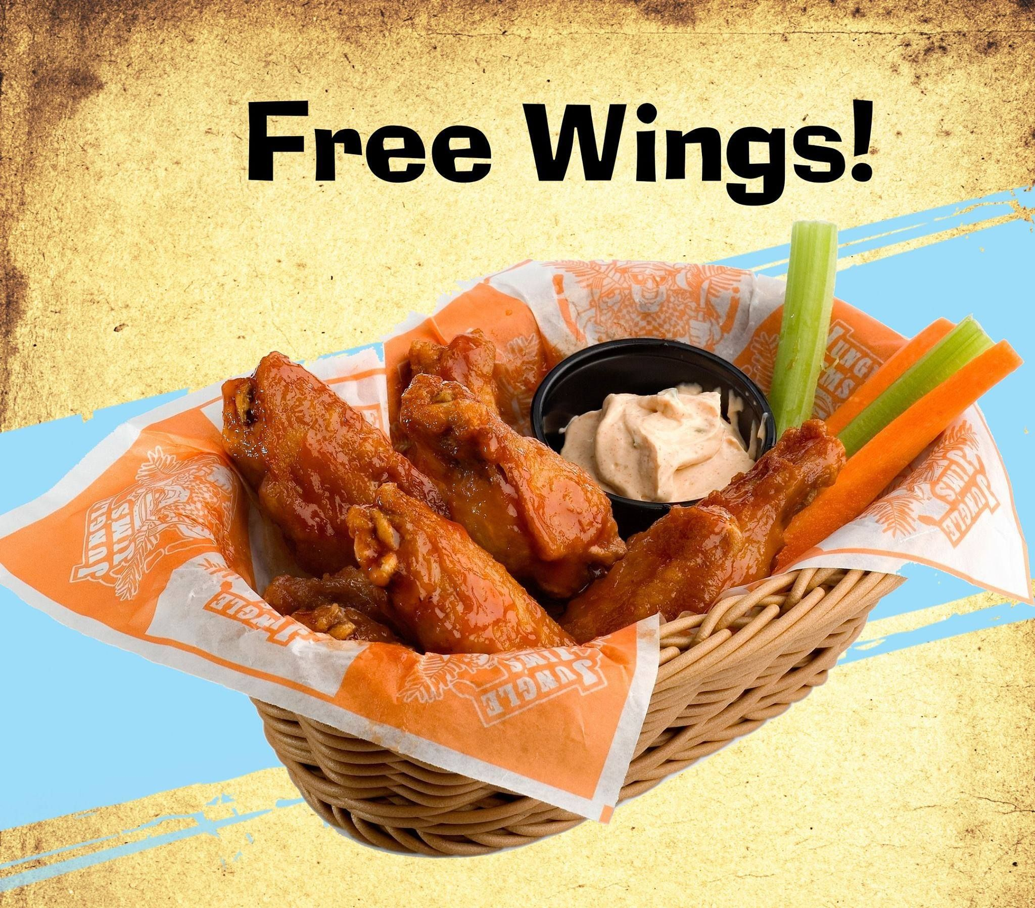 Weekly Jungle Giveaway! This week we're giving out 20 free pounds of Jim's famous buffalo wings! Like, share or leave a comment for your chance to win!