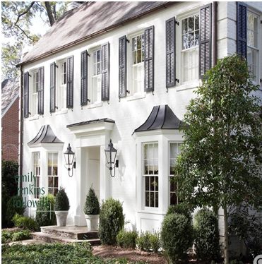 Whitewashed Brick Colonial Traditional Home Exteriors White Brick Houses Colonial Exterior