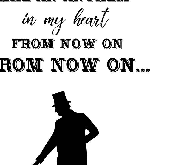 From Now On Lyric Quote Greatest Showman Wall Art Pt Barnum
