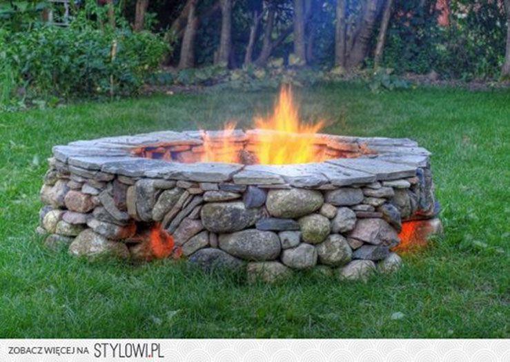 Dakota Fire Pit Idea Ogrod Rustykalny Wiejski Kruszywa